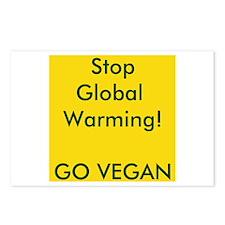 Stop Global Warming! Go Vegan Postcards (Package o