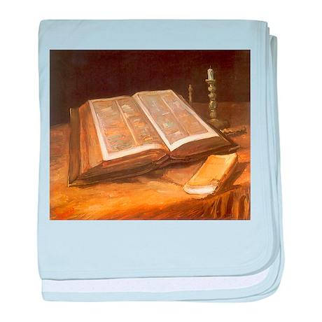 Van Gogh Still Life with Bible baby blanket
