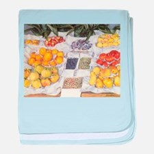 Fruit Stand by Caillebotte baby blanket