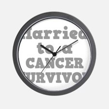 Married to a Cancer Survivor Wall Clock