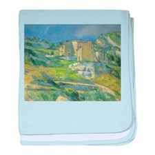 Houses in Provence by Cezanne baby blanket