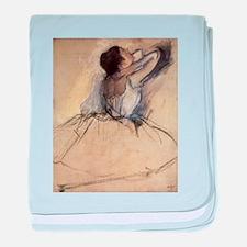 The Dancer by Edgar Degas baby blanket