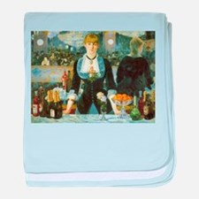 Manet, A Bar at the Folies-Bergere baby blanket
