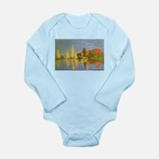Claude Monet Regatta at Argenteuil Long Sleeve Inf
