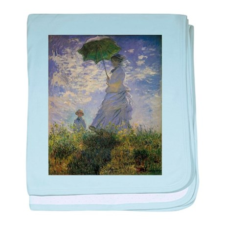 Claude Monet Woman w Parasol baby blanket