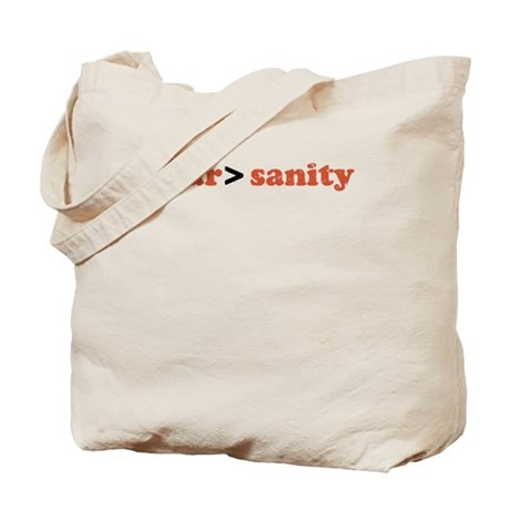 fear is greater than sanity Tote Bag