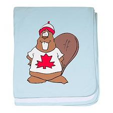Goofy Canadian Beaver in Shir Infant Blanket