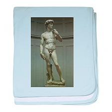 Statue of David by Michelangelo baby blanket