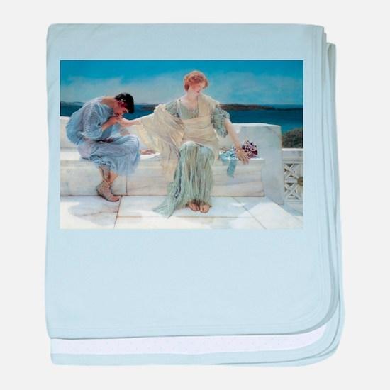 Alma Tadema Ask Me No More baby blanket