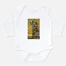 Fulfillment by Gustav Klimt Long Sleeve Infant Bod