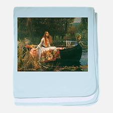 Lady of Shalott by JW Waterhouse baby blanket
