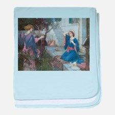 Annunciation by JW Waterhouse baby blanket