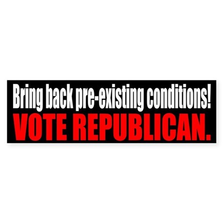 """Vote Republican"" bumper sticker"