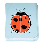 Cute Round Ladybug Infant Blanket