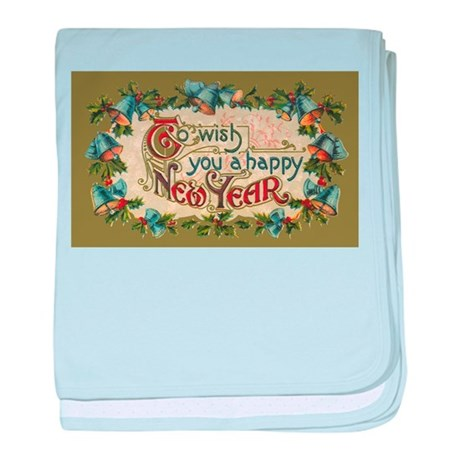 Vintage New Year's Eve Infant Blanket