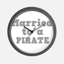 Married to a Pirate Wall Clock