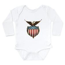 Vintage 4th of July Long Sleeve Infant Bodysuit