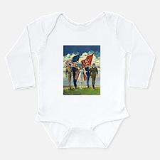 Vintage Patriotic Mili Long Sleeve Infant Bodysuit