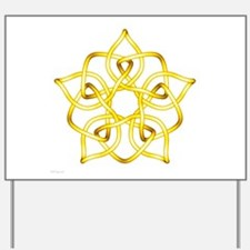 Yellow Pentagram Yard Sign
