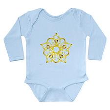 Yellow Pentagram Long Sleeve Infant Bodysuit