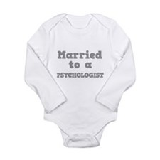 Married to a Psychologist Long Sleeve Infant Bodys