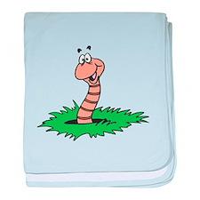 Happy Smiling Earthworm Infant Blanket