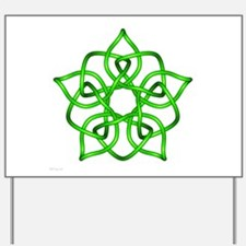 Green Pentagram Yard Sign