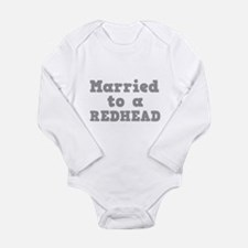 Married to a Redhead Long Sleeve Infant Bodysuit