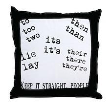 Pet Peeves Throw Pillow