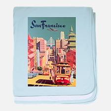 Vintage Travel Poster San Francisco baby blanket