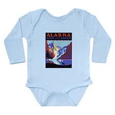 Vintage Travel Poster Alaska Long Sleeve Infant Bo
