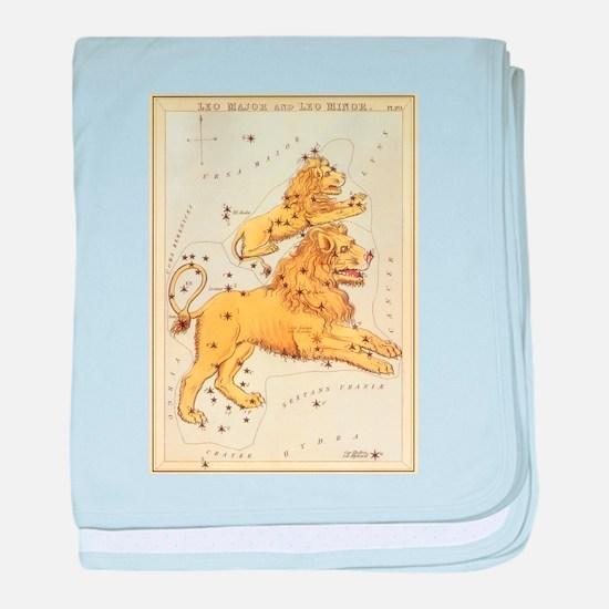 Vintage Celestial Zodiac, Leo baby blanket