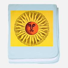 Vintage Celestial, Smiling Sun baby blanket