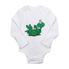 Scared Little Turtle Long Sleeve Infant Bodysuit