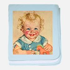 Vintage Cute Baby baby blanket