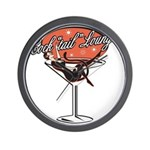 Retro Cocktail Lounge Pin Up Wall Clock
