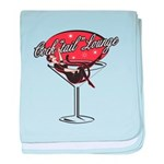 Retro Cocktail Lounge Pin Up Infant Blanket