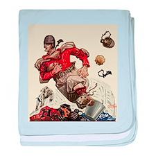 Vintage Sports Football baby blanket
