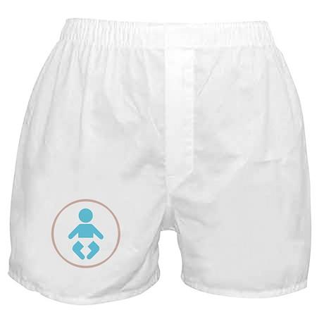 Blue Baby Boy Symbol Boxer Shorts