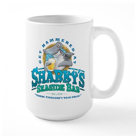 Sharky's Seaside Bar Large Mug
