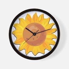 Sunflower Belly Wall Clock