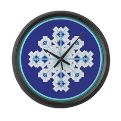 Snowflake Belly Large Wall Clock