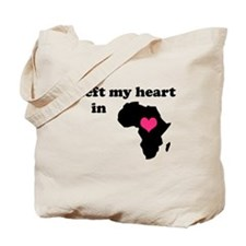 I Left My Heart in Africa Tote Bag