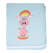 Pork Roll, Egg & Cheese Pig Infant Blanket