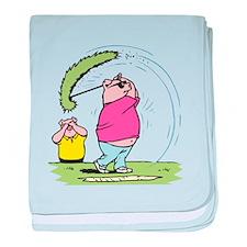Funny Golfing Pig Infant Blanket
