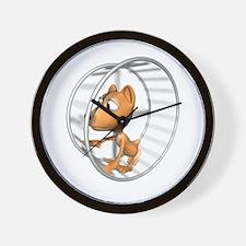 Hamster in Wheel Wall Clock