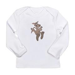 Happy Kangaroo and Joey Long Sleeve Infant T-Shirt