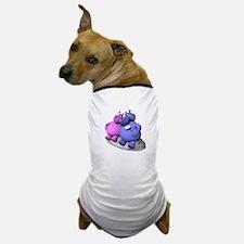 Hippos in Love Dog T-Shirt