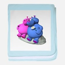 Hippos in Love Infant Blanket