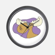 Moose In Shades Wall Clock